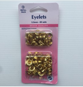 5.5mm Eyelets - 60 sets
