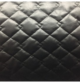 Quilted Fabric Leatherette Double Diamond Design