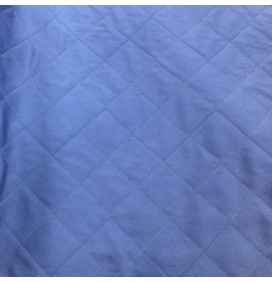 Quilted Fabric Polycotton Twill Polywool Backed