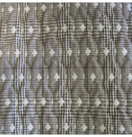 Quilted Fabric Jaquard Diamond Check