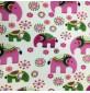 Fleece Fabric Animal Prints Elephants