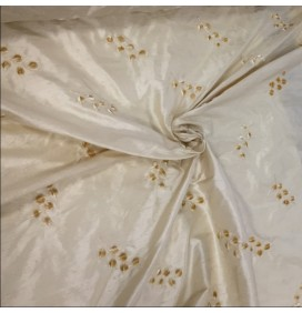 100% Pure Silk Dupion Embroidery