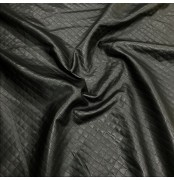 Quilted Fabric Leatherette Black