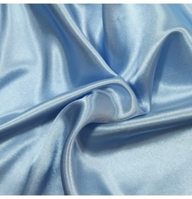 Satin Dress Fabric Baby Blue