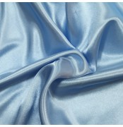 Satin Dress Fabric Baby Blue