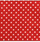 Polycotton Fabric Polka Dots Red