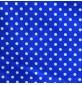 Polycotton Fabric Polka Dots Royal