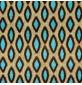 Designer Upholstery Fabric Aqua Leaf