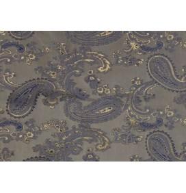 Paisley Jacquard Lining Fabric Blue Gold 6