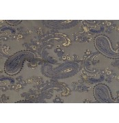 Paisley Jacquard Lining Fabric Blue Gold 6