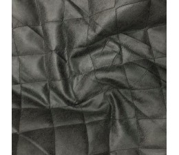 Charcoal quilted fabric soft leather look