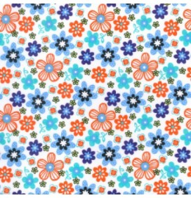 Polycotton Fabric Floral Design