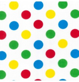 Polycotton Fabric 20mm Spots