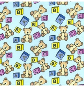 Polycotton Fabric Teddy Bears