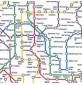 Polycotton Prints - London Undergroud Map White