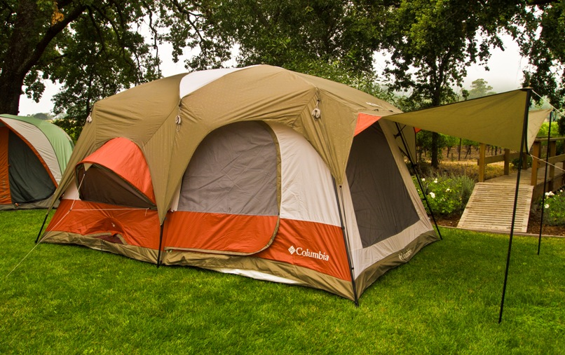 A large tent made from Waterproof fabrics.