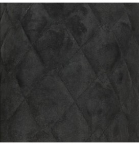 Quilted Suede Fabric Black