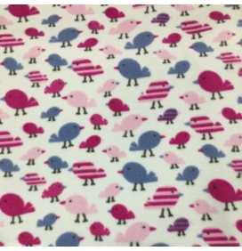 Fleece Fabric Animal Prints Birds