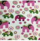 Fleece Fabric Animal Prints Elephants