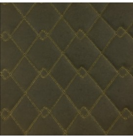 Quilted Fabric Waxed Cotton Canvas Olive