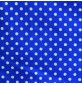 Polycotton Fabric Polka Dots Royal