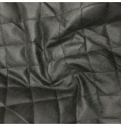 Charcoal quilted fabric soft leather look - Charcoal Black