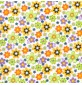Polycotton print – floral design Green
