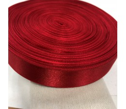 1 Inch (25mm) Red Double Faced Satin Ribbon 40 meters