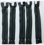 Grey 6 inch 5 x Autolock Zips No 3