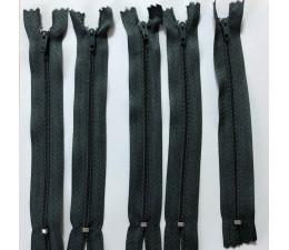 Grey 6 inch 5 x Autolock Zips No 3