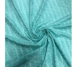 Lace Fabric - Duck Egg