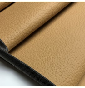 72in Luxury 2MM Foam Backed Leatherette Fabric Pebble Beige