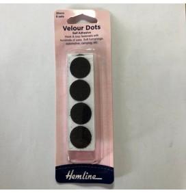 Velour Dots Self Adhesive 20mm x 8 Sets