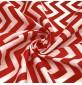 Polycotton print Chevrons Red
