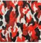 7oz WATERPROOF FABRIC PU Camouflage print Red