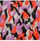 7oz WATERPROOF FABRIC PU Camouflage print Lilac