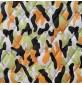 7oz WATERPROOF FABRIC PU Camouflage print Lime Black