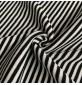 RIBBING FABRIC 55CM Tubular Stretch Knit Trimming Cuffs Garments Chunky Thick Black White Stripes