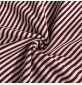 RIBBING FABRIC 55CM Tubular Stretch Knit Trimming Cuffs Garments Chunky Thick Maroon Stripes