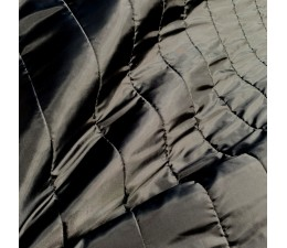 Black 4 inch Straight Line Quilted Fabric Lining