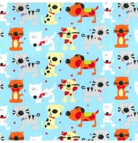 Polycotton Fabric Cat Prints
