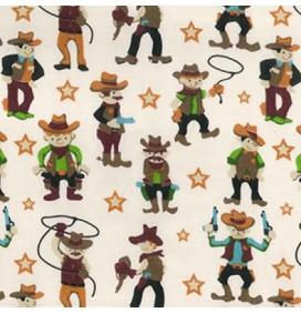 Polycotton Fabric Cowboy