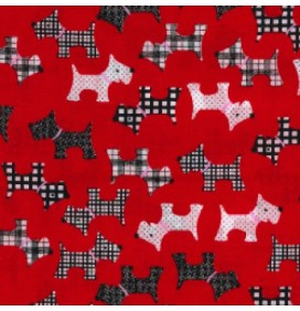 Polycotton Fabric Dogs