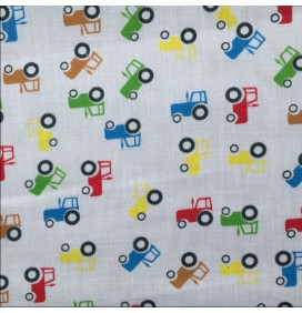 Polycotton Fabric Cars