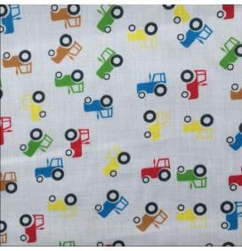 Polycotton Fabric Cars