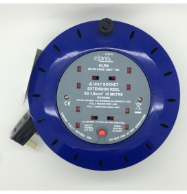 4 Way 10 Metre Socket Extension Reel