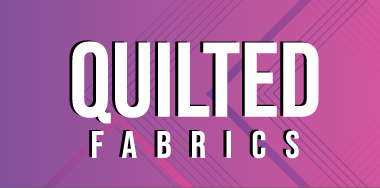 Range of quilted fabrics include Polycottons, waterproofs and Linings.
